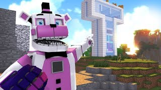 Minecraft FNAF- Funtime Freddy Visits Teen Titans Go Tower- Minecraft Roleplay