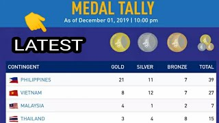 Sea Games 2019 Medals Tally Latest ; Philippines ; Malaysia ; Indonesia ; Vietnam