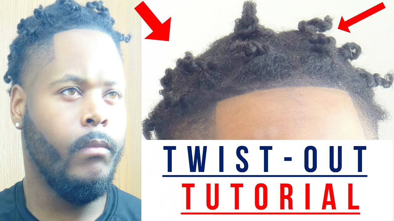 How To Twist Your Own Hair Out For Men Tutorial Youtube