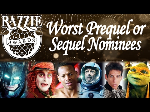 RAZZIES 2017 - Worst Prequel, Re-Make, Rip-Off or Sequel Nominees Trailer Compilation