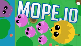 Mope.io - King of the Jungle! - Animals Eating Animals - Mope.io Gameplay Highlights Part 1