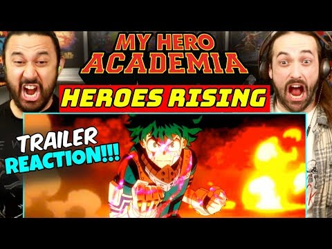 MY HERO ACADEMIA: Heroes Rising   MOVIE TRAILER - REACTION!!!