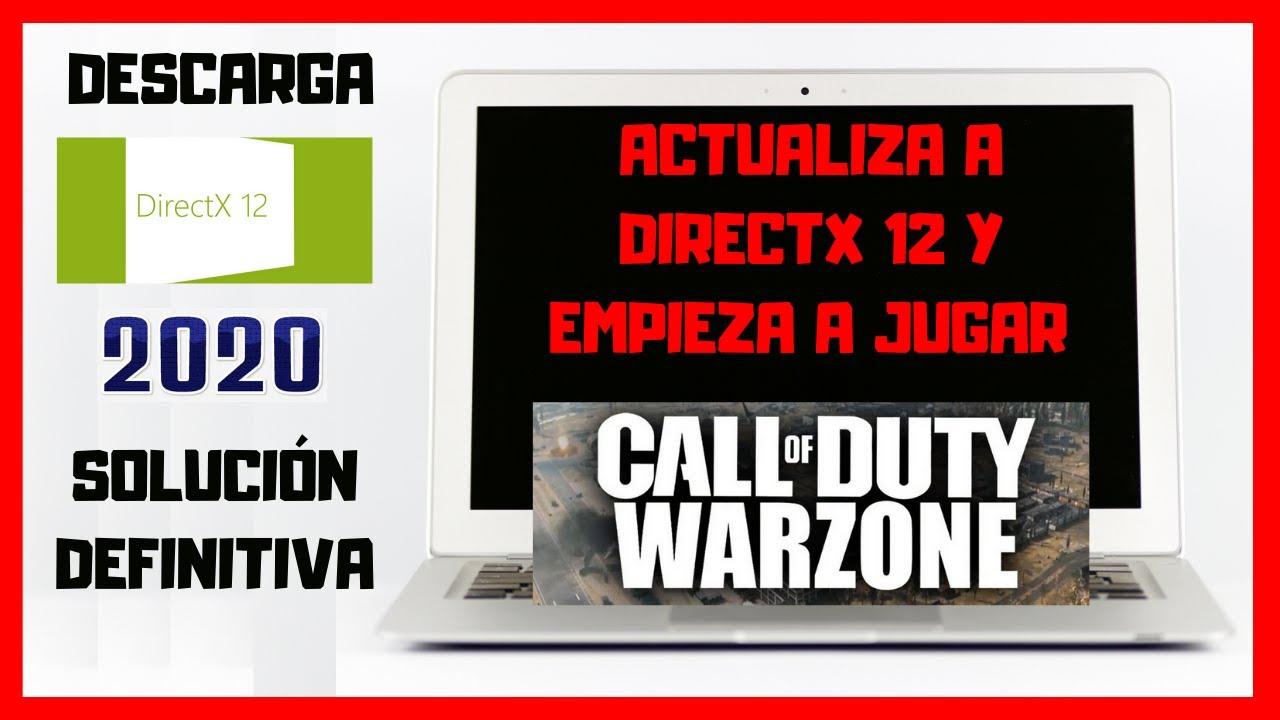 ✅ Como Descargar DIRECTX 12 para CALL OF DUTY WARZONE para WINDOWS 7, 8, 10 GRATIS (SOLUCIÓN)