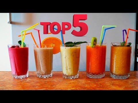 Топ  5  смузи ;) - Простые вкусные домашние видео рецепты блюд
