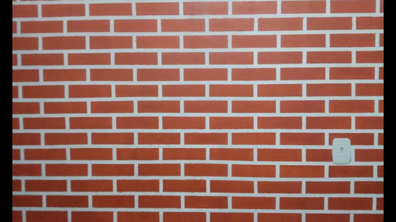 Parede de tijolinho a vista pintura youtube - Pinturas de paredes ...