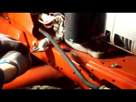 how to change the oil in a bcs tractor