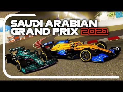 PLAYING THE F1 2021 SAUDI ARABIAN GRAND PRIX! Onboard F1 Race at Jeddah Street Circuit!