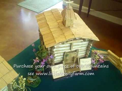 Log Cabin Miniatures hand crafted