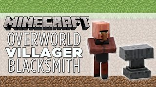 villager minecraft blacksmith figure overworld articulated