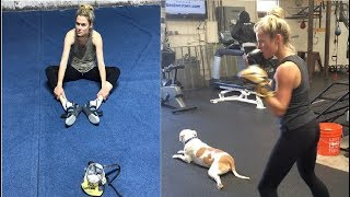Actress Rachael Taylor Boxing Workout Routine | Training for Jessica Jones/Marvel