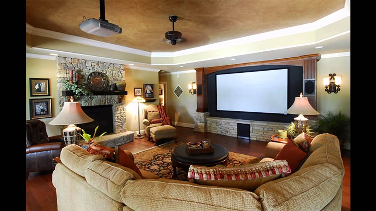 Home Theater Family Room Design Youtube