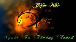 Người Ta Thường Trách(cover) - Cẩm Vân