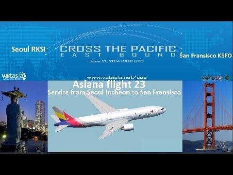 VATSIM's Cross the Pacific Seoul to San Fransisco - PMDG 777 - Live