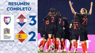 Croacia 3 – 2 España – UEFA Nations League – Grupo 4 - Resumen y Goles completo