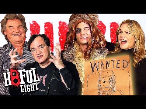 The Hateful Eight WANTED! - Crazy Interview with Quentin Tarantino, Kurt Russell, Jennifer Leigh