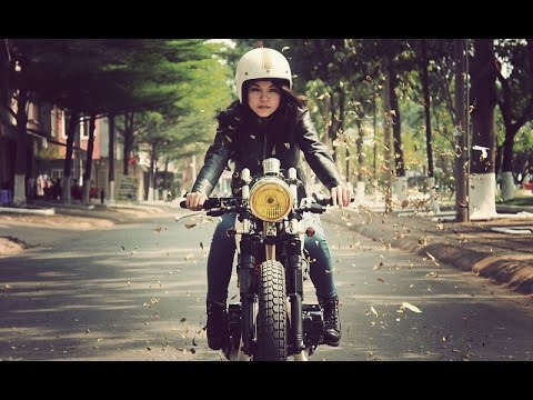 Retro Anime Girl Wallpaper Cafe Racers Riding At Phan Thiet Vietnam Vintage Style
