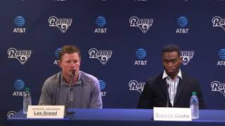Brandin Cooks Los Angeles Rams Introductory Press Conference
