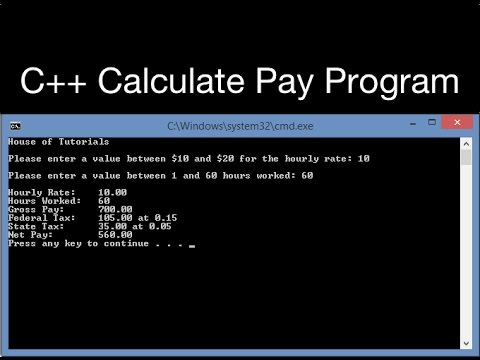 How to make a C++ Calculate Pay Program Using Loops and If/Else Statements - YouTube