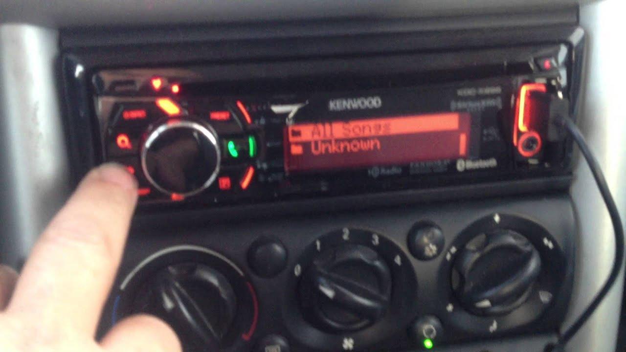 2004 Mini Cooper Kenwood KDCX896 bluetooth radio install