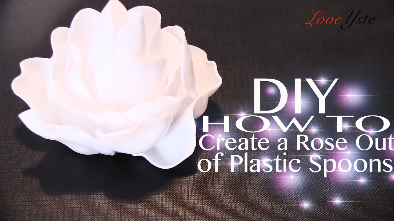 How to Make Plastic Spoon Roses How to Make Plastic Spoon Roses new pics