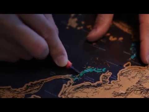 Shiny Journey Amazing Scratch Off World Map Ultimate Pack / 4 Xtra