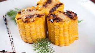 Кукуруза »гриль» с чесноком и зелёным луком в домашних условиях
