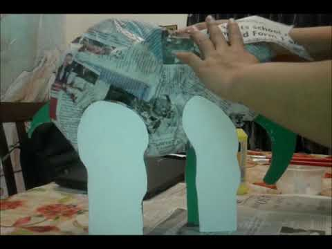 Creative art Tutorial paper mache craft ( elephants )