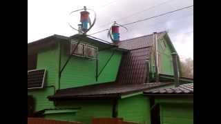 Вертикальный ветрогенератор Maglev 600Вт(Московская область. Оборудование смонтировано компанией