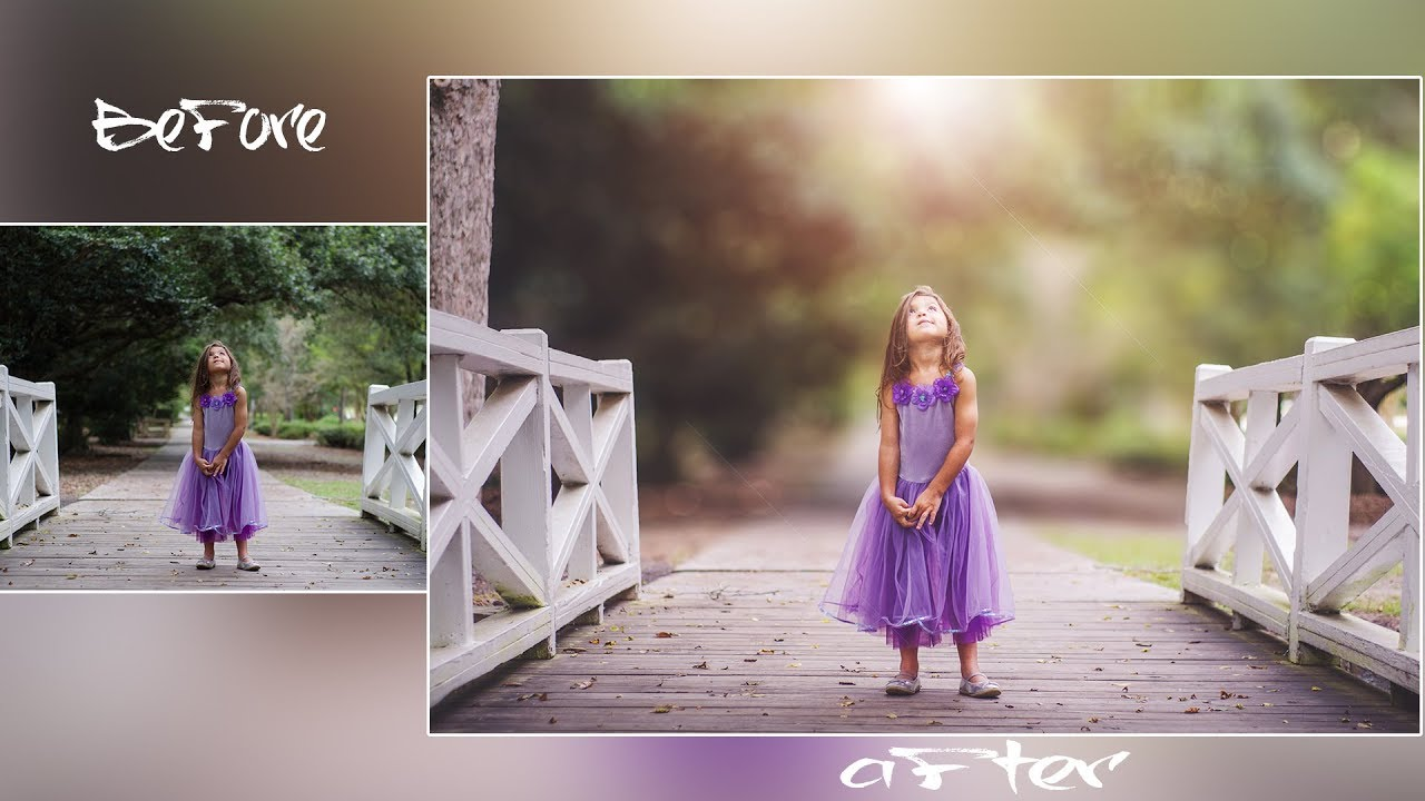Photoshop Tutorial How To Edit Outdoor Portrait Girl Blur Background And Bokeh Effect Youtube