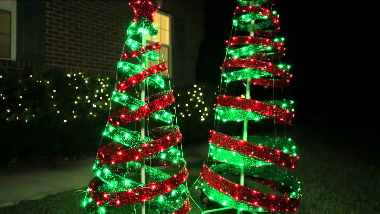 Green Spiral Christmas Tree Outdoor Decorations