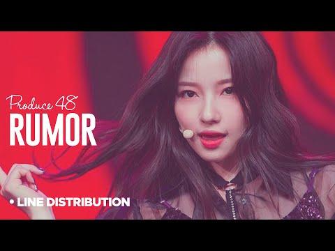 PRODUCE 48「Rumor」Line Distribution
