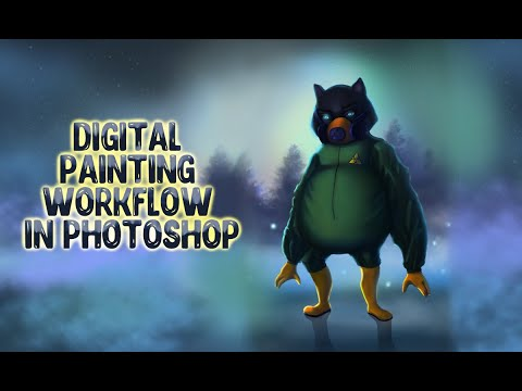 Digital Painting Workflow In Photoshop. Рисуем кота в фотошопе