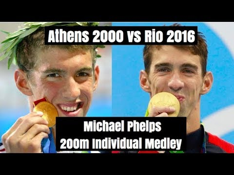 Michael Phelps 200m IM: Athens 2004 vs Rio 2016