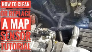 HOW TO REPLACE OR  CLEAN A MAP SENSOR P0107 P0108 P1128 P1129