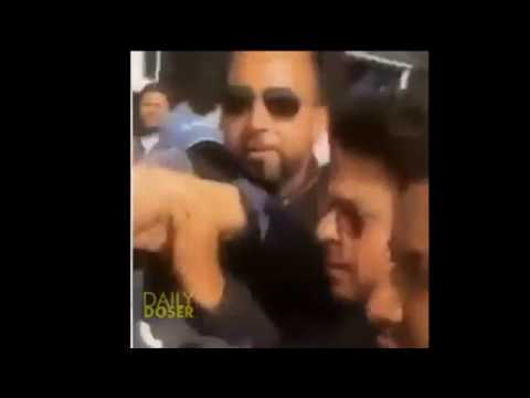 Shah Rukh Khan Gets Angry & Pushes Fan & Almost Hits Him!!