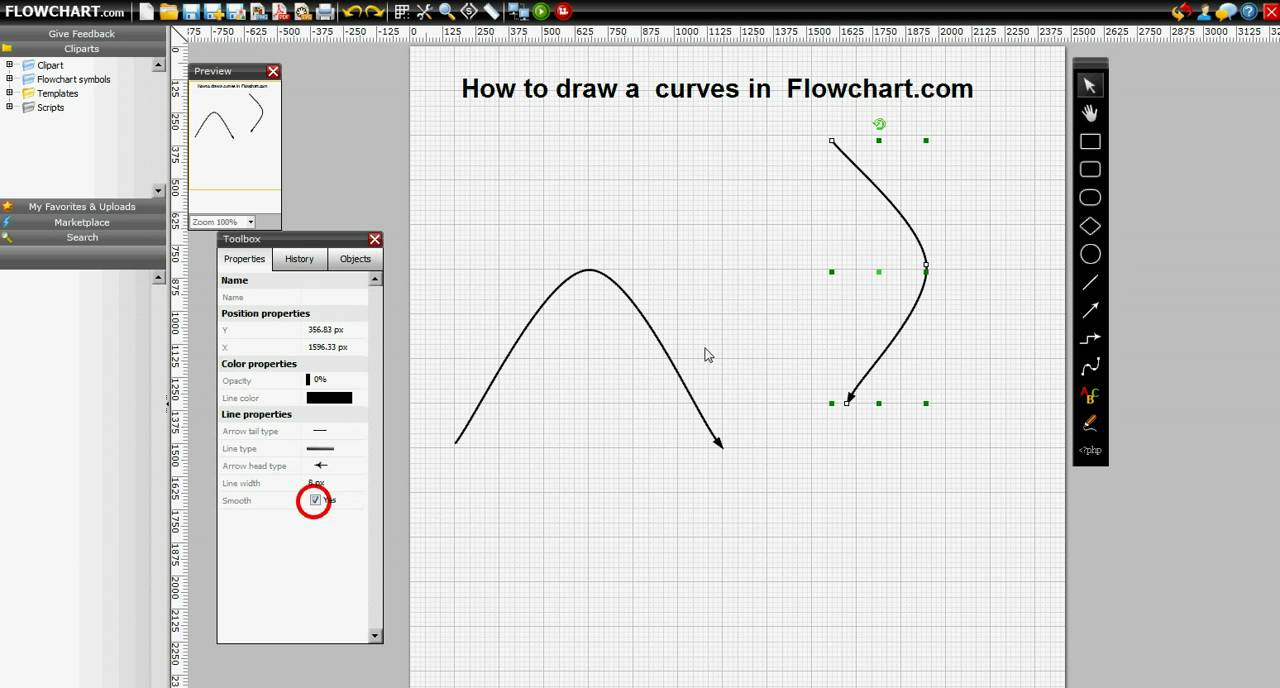 Visio Drawing Lines With Curves : Flowchart com how to draw curves youtube