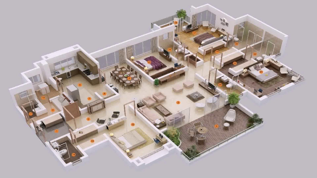4 Bedroom House Plans Bangladesh