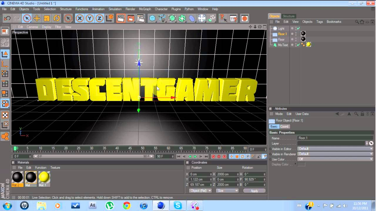 cinema 4d tutorial how to make your own intro template youtube
