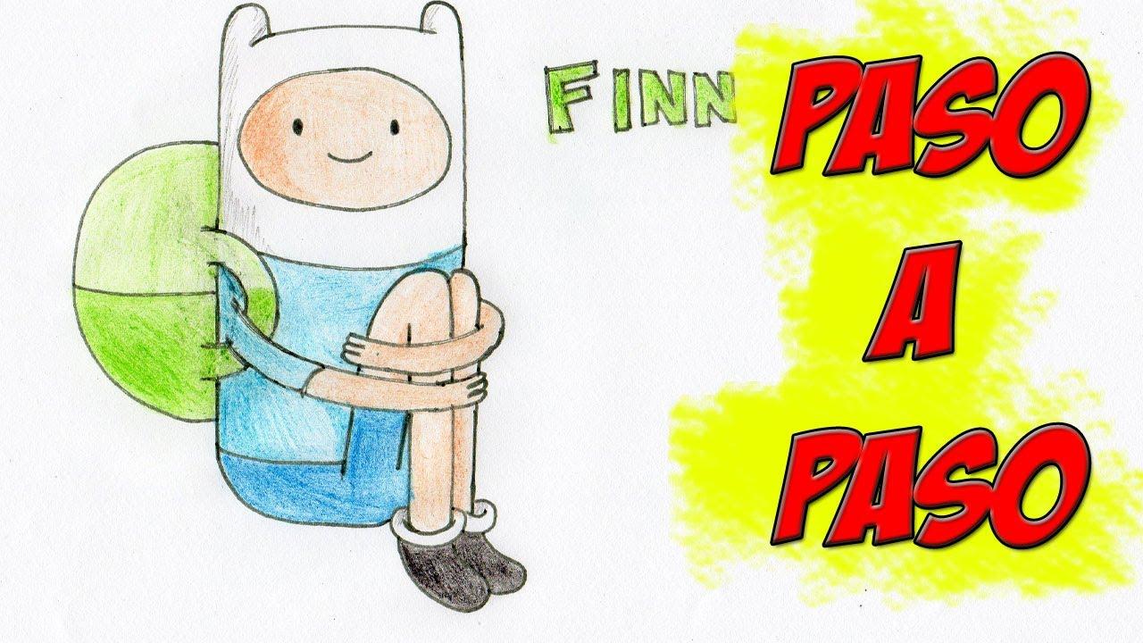 Como dibujar a Finn Paso a Paso Hora de Aventuras Adventure