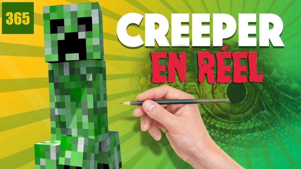 Comment Dessiner Creeper Dans Le Monde Réel Minecraft Challenge