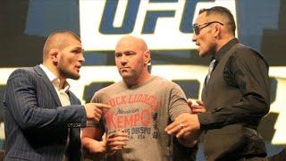 Repeat youtube video Khabib Nurmagomedov and Tony Ferguson Heated Trash Talk on UFC 209 Media Call