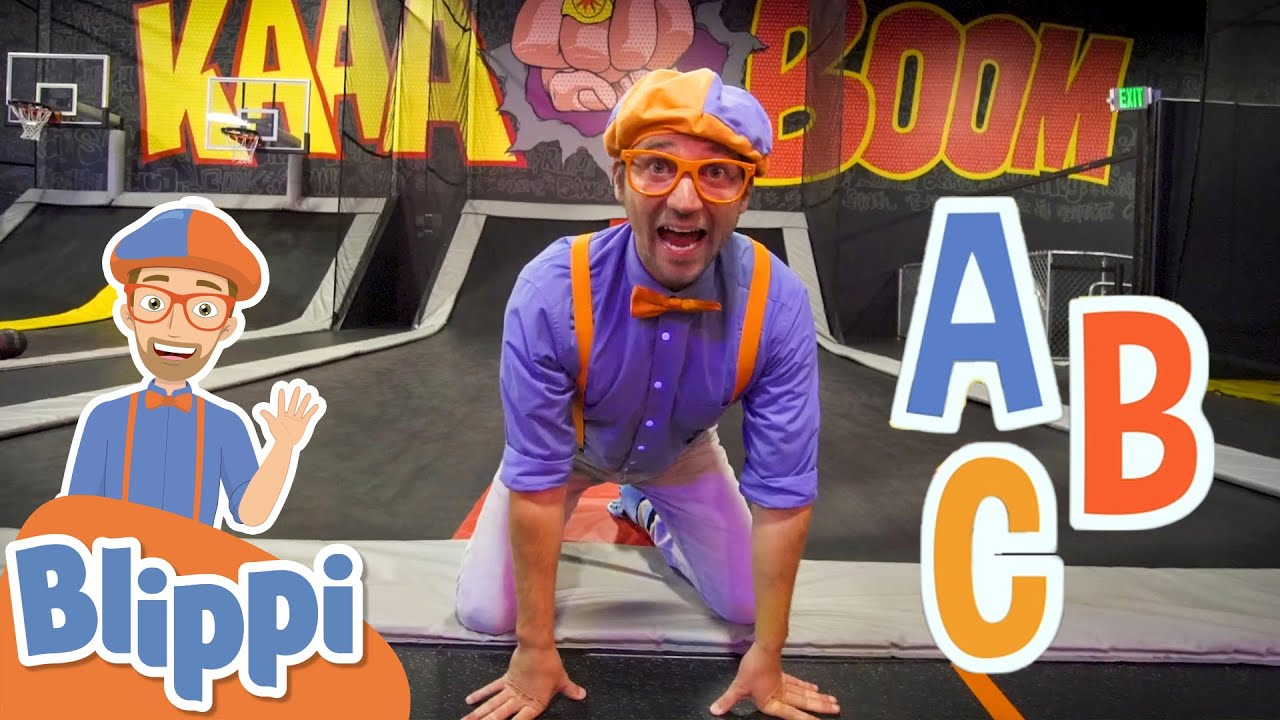 Blippi Visits A Trampoline Park! |  Learn the Alphabet For Kids | Educational Videos For Toddlers
