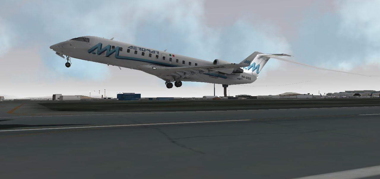 Bombardier CRJ-200 departure from Mexico | X-Plane 10