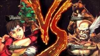 Street Fighter X Tekken Arcade Mode - Sakura & Blanka
