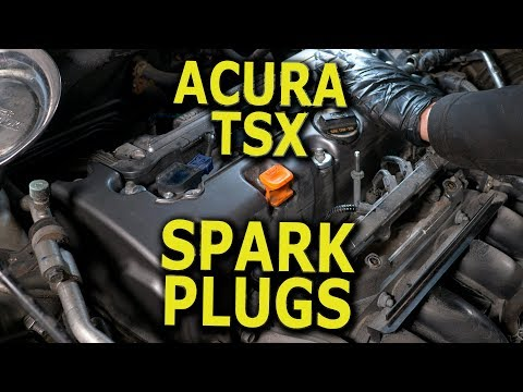 Acura TSX Spark Plugs replacement DIY