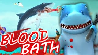 BLOOD BATH GADGET! - Hungry Shark Evolution #7 - Blood, Gore, Guts!