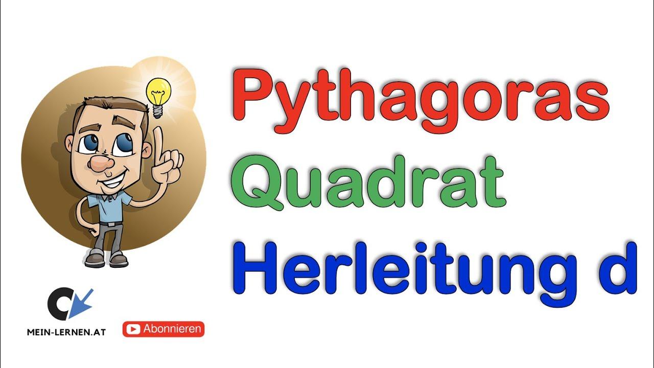 pythagoras quadrat herleitung und anwendung der formel youtube. Black Bedroom Furniture Sets. Home Design Ideas