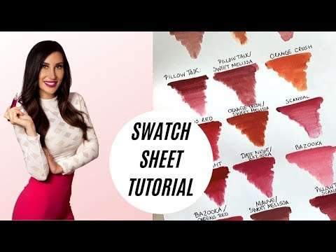 Permanent Makeup Swatch Sheet Tutorial | Shay Danielle Academy Online