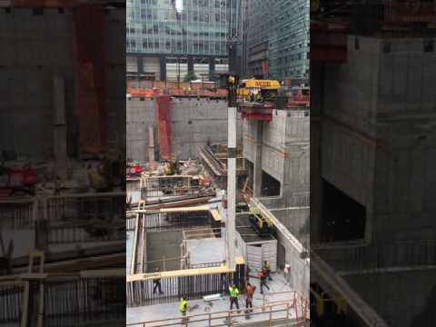 First steel column installed at One Vanderbilt