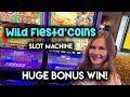 Wild Fiesta Coins Slot Machine! HUGE BONUS WIN!! What a Comeback!!